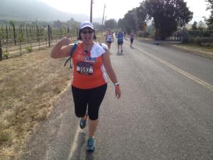 Coach Ken took this pic at about Mile 10 of the race. Still smiling!